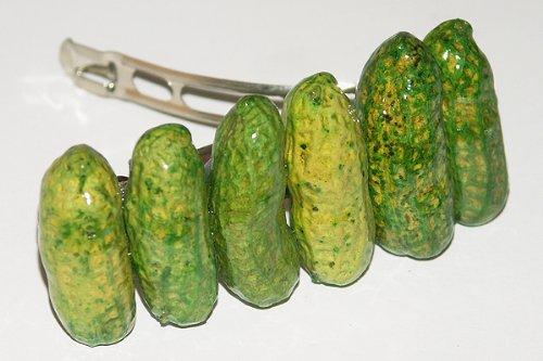 Kostüme Erdnüsse (Erdnüsse grün Haarspange - Haarklammer für Mädchen,tolles Muttertagsgeschenk, oder zum)