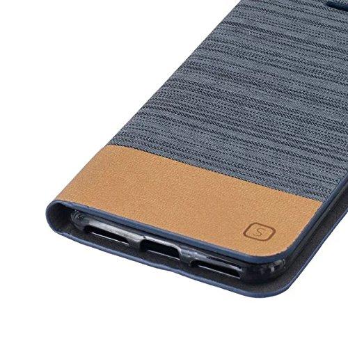 Mixed Canvas Canvas Collection Case Premium PU Leather Case Portefeuille Stand Flip Stand Coque de protection pour IPhone 7 ( Color : 3 , Size : IPhone 7 ) 5