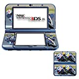 Extreme Sport 044, Motorradsport, Design folie Sticker Skin Aufkleber Schutzfolie mit Farbenfrohe Design für New Nintendo 3DS XL Designfolie