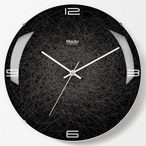 DollylaStore Horloge murale silencieuse de café, barre barre barre de chambre à coucher L'horloge de mur de verre sans cadre d'horloge de mur de salon de salle de classe de bureau d'étude de famille utilisation d | Choix Des Matériaux  7e94b5