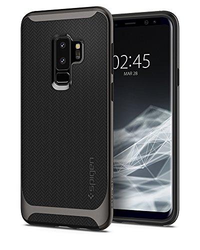 Spigen 593CS22943 Coque Galaxy S9 Plus, Protection Renforcée Hybrid [Gunmetal] Contours Anti Choc