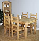 Seconique Budget Mexican Dining Set Distressed Waxed Pine Ki