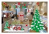 CJWDXYX Weihnachten Fenster Sticker Weihnachtsbaum Shop Glastür Home Art DIY-Aufkleber Abnehmbare PVC Kein Leim Statische Aufkleber