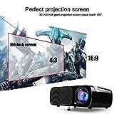 LCD Beamer Projektor, Ogima Heimkino Projektor BL20, 2600 Lumen LCD Projektor Unterstützt 1080P Full HD VGA / HDMI / USB / SD / AV Eingang,1 Jahr Garantie - 3