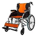 Y-L Rollstühle, die Den Leichten Selbstfahrenden, Transport-Reiserollstuhl-Starken Breiten Aluminiumsitz-20-Zoll-Rollator mit Bremsen Abnehmbare Räder Falten