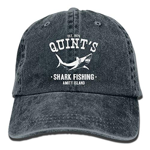 Preisvergleich Produktbild KKAIYA Adult Unisex Cotton Jeans Cap Old-Fashion Adjustable Hat Quints Shark Fishing Jaws 7 Colors Available
