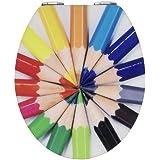 Wenko 21367100 Abattant MDF/Acrylique Crayons 38,5 x 6,5 x 46 cm