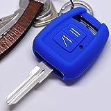 Soft Case Schutz Hülle Auto Schlüssel Opel Zafira A Astra G Zündschlüssel Vauxhall Remote / Farbe Blau