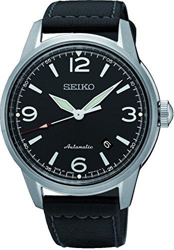 Seiko Reloj Analógico para Hombre de Automático con Correa en Cuero SRPB07J1
