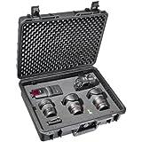Mantona Outdoor Valise protectrice photo L (pour caméras DSLR, GoPro Actioncam, équipement photo et bien plus, taille L, imperméable, résistante aux chocs et à la poussière) noire