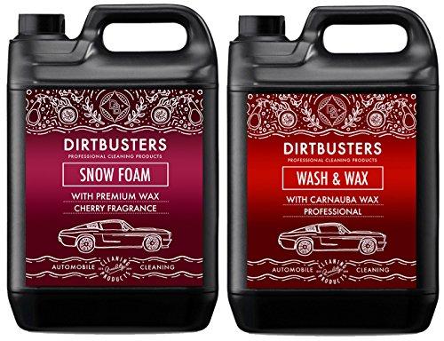 Dirtbusters Lot de 2 bidons de nettoyage en mousse parfum cerise et de cire finition brillante pour voiture
