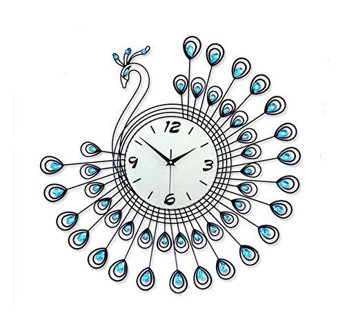 FLMGZ Wanduhr, Kreative Dekorative Wanduhr Schmiedeeisen Gartenuhr Persönlichkeit Wohnzimmer Stille Uhr Quarzuhr Uhr