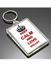 KEEP CALM AND LOVE BALLET KEYRING LLAVERO