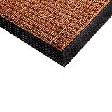 etm® Fußmatte Diamond   für außen und innen   geprägte Struktur für optimale Reinigungswirkung   Schmutzfangmatte in vielen Größen und Farben (Braun 120x180 cm)