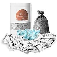 L'Home - Bolsas de gel de sílice desecantes para regenerar (bolsa de regalo y tres tarjetas de humedad)