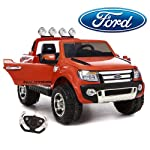 Kids ride on Jeep original Licence version Ford Ranger 2 seater ,Elite looks and stylish ride on,12 volts Rechargeable battery with double motor,Forward/Reverse gear, suitable for 2 - 7yrs kids (60Kg weight capacity),Remote control operation,Kids can...