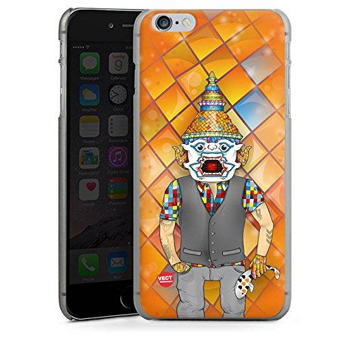 Apple iPhone X Silikon Hülle Case Schutzhülle Bunt Orange Comic Hard Case anthrazit-klar