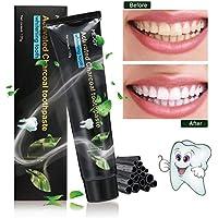 Schwarze Aktivkohle Zahnpasta, Y.F.M Natürliche Zahnaufhellung Für weiße Zähne Zahnreinigung Zahn schützen Aufhellen frischer Atem Bleeching Teeth Whitening Toothpaste