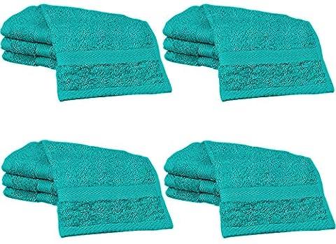 20 Teal Cotton face cloths Flannels 30cm x 30cm