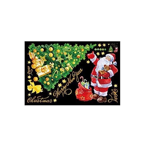 YSoutstripdu Frohe neu Jahr Wandaufkleber, Frohe Weihnachten Baum Wand Aufkleber, Geschenk-Box-Fenster dekorative abnehmbare Wandaufkleber