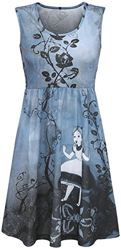 Alice In Wonderland Gothic Abito blu S