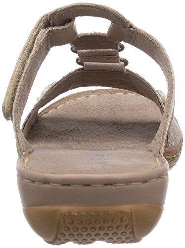 Jana 27202 Damen Offene Sandalen mit Keilabsatz Grau (Taupe)