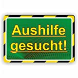 AUSHILFE GESUCHT / Mitarbeiter / Angesteller gesucht - SCHILD / D-077 (30x20cm Schild)