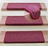 Stufenmatte Treppenmatte Monza Rechteckig - 6 aktuelle Farben ! (Bourdeaux)