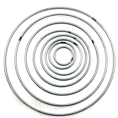 5pcs 160mm Starkes Handwerk Metall-Dreamcatcher - /Makramee-Reifen/Ring Feder Pentakel