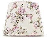 Konischer Stoff Lampenschirm Stehlampe für E27 rosa Blumen-Motiv Textil Schirm Stehleuchte