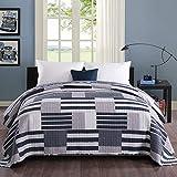 WOLTU Couverture de lit Patchwork, jeté de lit Couvre-lit matelassée pour lit Double #1077-2