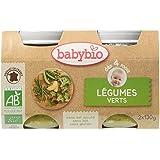 Babybio Pots Légumes Verts 260 g - Lot de 6