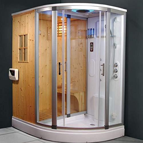 Cabina idromassaggio 170x130 cm box doccia multifunzione con bagno turco e sauna...