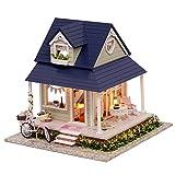 LianLe Puppenhaus Romantisch Villa mit Fahrrad DIY mit Musik Kinder Geschenk
