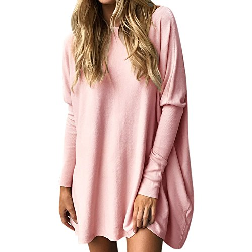 Petalum Damen Shirt Herbst Elegant Casual Langarm Eng Ärmel Lose Asymmetrisch Einfarbig Fledermaus Batwing Übergroß Sweatshirt Pullover (Batwing Kapuze)