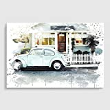 Arty Pie VW Beetle Classic Car 1V3 Poster Print, Mehrfarbig, A2/23,4x Kunstdruck