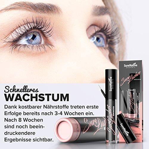 Ansicht vergrößern: SureLashes Wimpernserum [2018] für maximales Wimpern-Wachstum, einzigartiger Wirkstoffkomplex sorgt für lange, kräftige und voluminöse Klimper-Wimpern in kürzester Zeit, MADE IN GERMANY 4 ml
