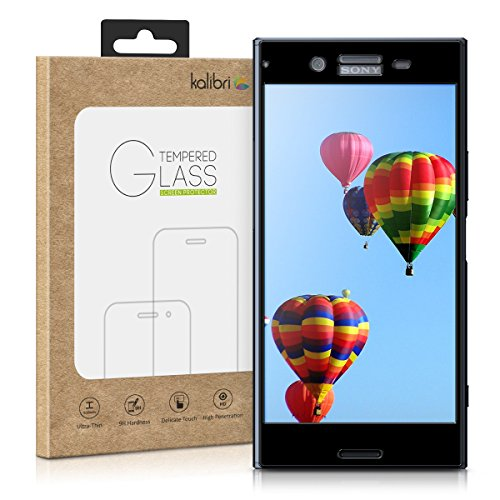 kalibri-Echtglas-Displayschutz-fr-Sony-Xperia-XZ-Premium-3D-Schutzglas-Full-Cover-Screen-Protector-mit-Rahmen-in-Schwarz