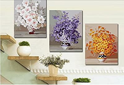 Romantic Road-DIY Painting by number kits Oil Paintings Frameless Canvas Painting Home Decoration Wall Art 16x20 inch Cherry blossoms Flower - low-cost UK light store.