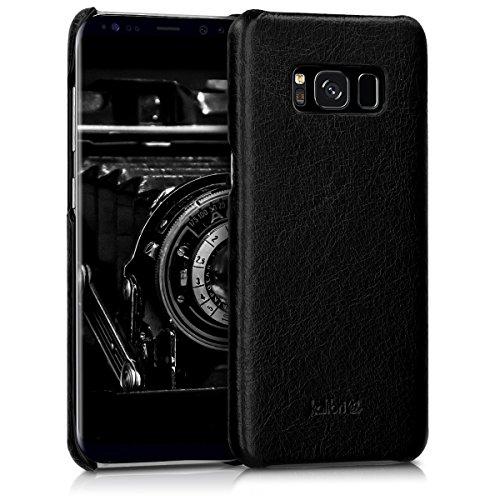 kalibri-Echtleder-Backcover-Hlle-fr-Samsung-Galaxy-S8-Leder-Case-Cover-Schutzhlle-in-Schwarz