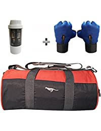 5 O' CLOCK SPORTS Gym Bag Combo Set Enclosed With Polyster Gym Bag With Shoe Compartment For Men For Men And Women... - B07B2XB915
