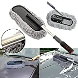 #9: Delhitraderss -Car Cleaning Wash Brush Dusting Tool Large Microfiber Multi function Duster for - Mahindra KUV 100