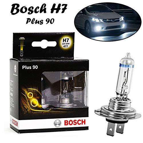 2x Bosch H7 55W 12V PX26d 1987301075 +90% mehr Licht Intensiv hell Weiß White Ersatz Scheinwerfer Halogen Auto Lampe - E-geprüft -