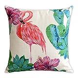 Piante tropicali e Fenicotteri cotone lino federa American Art cuscino decorativo cuscini Home Decor sofa throw Pillow cover Almofada, Tessuto
