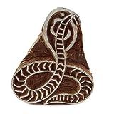 Druckstöcke Schlange-Muster aus Holz Stempel Auf Stoff