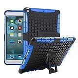 Apple iPad Air Hülle, 11:11 Accessories, [Stoßfest] Stylischer Robust Dual Layer Hybrid [Heavy Duty] stabiler Schutzhülle Schutz Cover mit Kippständer für Samsung Galaxy A3 (2016) Handy - Blau