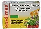 Gegen Viren und Bakterien - Thymian, Huflattich plus 20 Kräuter Extrakte, 24 Lutschtabl, antibakteriell, bei Erkältung, Halsschmerzen, halstabletten, tabletten, halsspray, rachenspray