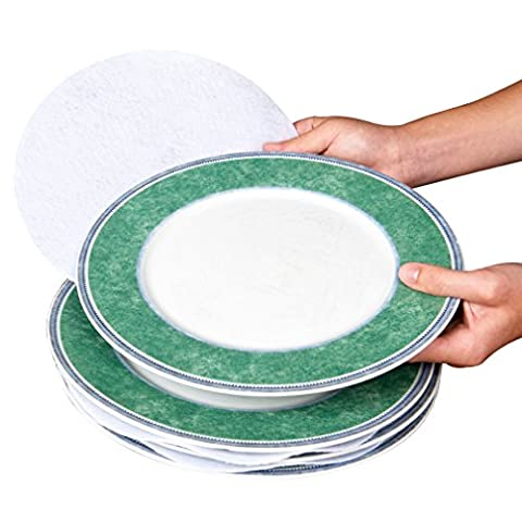 Evelots® Soft Felt Plate Dividers, 11.4, 15.2, 25.4 cm, Protect Dishes, Set Of 48