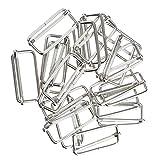 MagiDeal Lot De 20 Pcs Connecteur En Boucle Carrée Accessoire De Bricolage Pour Sac à Main DIY Artisant - argenté#4, 38x16x2.8mm