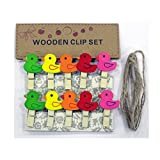 #7: Cloud 9 Small 10 Piece Mini Wooden Clips pegs 1 inch (25 mm) x .16 inc ((4 mm) for Decoration, Art, Hanging Pictures, Photographs, Light Weight Toys, Arts(Duck Shape)